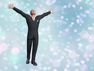 Successful businessman - 3D render