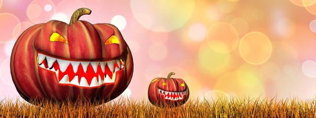 Pumpkins for halloween - 3D render