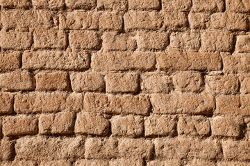 Adobe brick wall detail