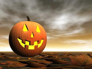 Pumpkin for halloween - 3D render