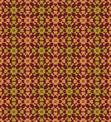 Brown Colors Flower Pattern design. Original Pattern and Symbol