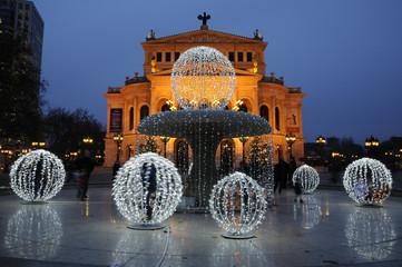 Weihnachten an der Alten Oper in Frankfurt