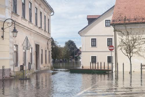 Flooded street - 71336695