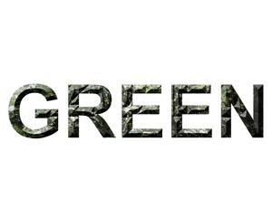 yeşil yazısı