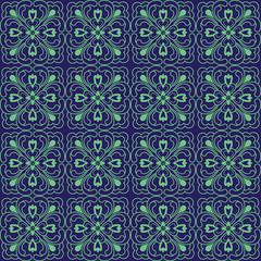 Blue Colors Flower Pattern design. Original Pattern and Symbol S