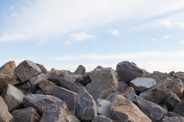 Pile of Rocks Boulders for Construction
