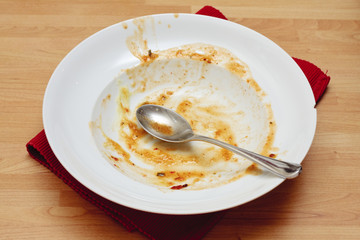 Empty dinner bowl