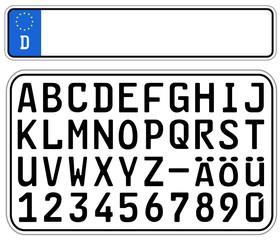 Kennzeichen Bausatz  #141009-svg01