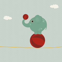 Elephant on the ball