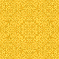 Yellow Colors Flower Pattern design. Original Pattern and Symbol