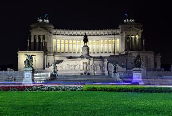 Altare della Patria in Rome by night Altar of the Fatherland