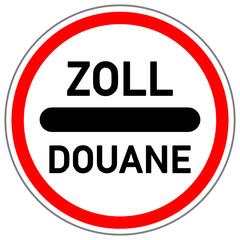 Zoll Douane Schild  #141009-svg03