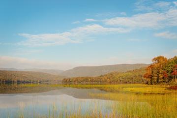 Warren lake in the fall