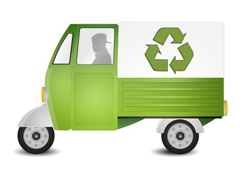 Green van for recycling