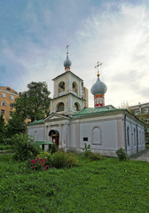 Russian orthodox church of Saint martyr Blaise in Moscow near Ar