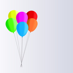 Vector drawing of balloons filled with helium to celebrate.