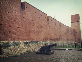 old city wall in riga latvia