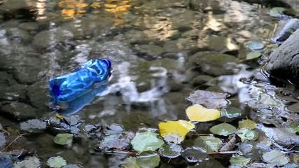 Bottiglia vuota rifiuto nel lago, Inquinamento