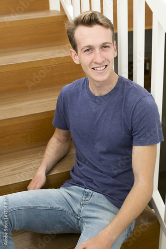 canvas print picture portrait of young man
