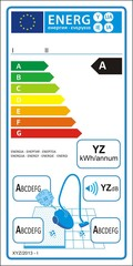 Vacuum cleaners new energy rating graph label