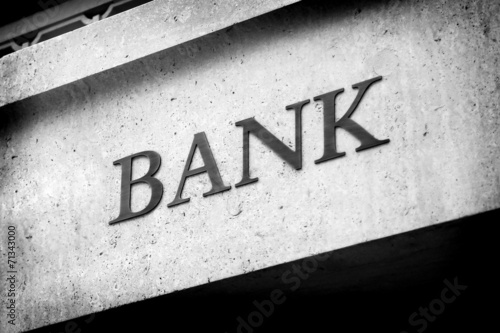 Old Fashioned Bank Sign - 71343000
