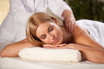 Pleasant back massage