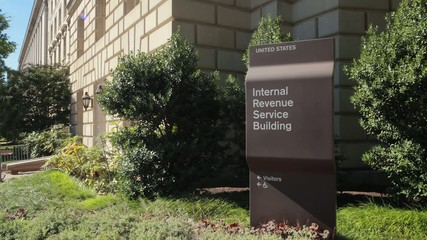 IRS Internal Revenue Service building in Washington D.C.