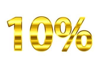 10% dourado