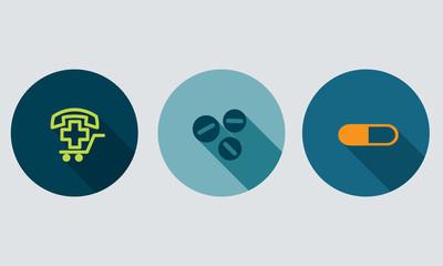 Pharmacy and medication vector symbol