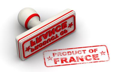 Продукт Франции (product of France). Печать и оттиск