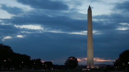 Washington Monument in the evening