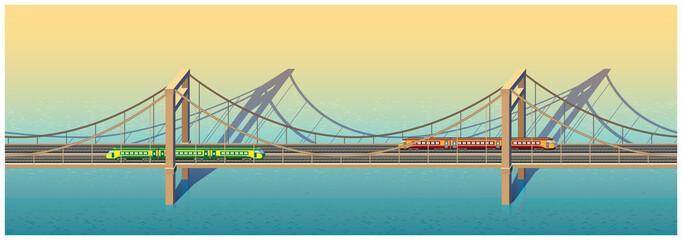 sunny railway bridge