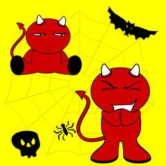 demon halloween cartoon kid set2