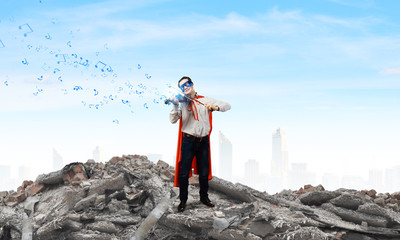 Superman with violin