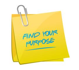 find your purpose memo illustration design