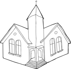 Outlined Christian Church