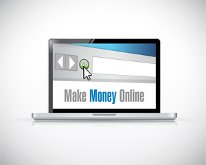 make money online computer concept