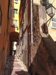 street in menton in french riviera