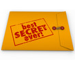 canvas print picture - Best Secret Ever Yellow Envelope Confidential Information Rumor