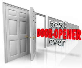 Best Door Opener Ever 3d Words Customer Sales Opening