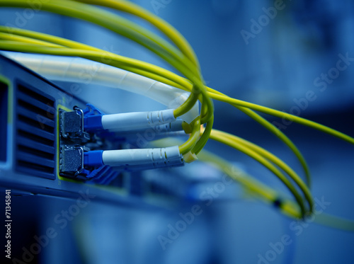 network optical fiber cables and hub - 71345841