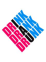 Cool Drink Drank Drunk Square Logo