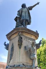 Christopher Columbus Statue, Parque Colon, Santo Domingo, Caribb