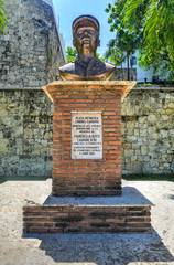 Bust of Francisco Alberto Caamano Deno, Santo Domingo, Dominican
