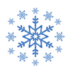 Sketch drawing of snowflakes