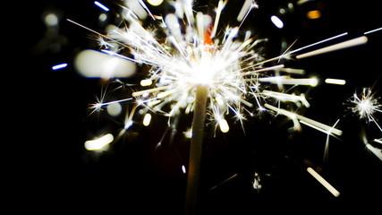 Fireworks sparks of sparklers