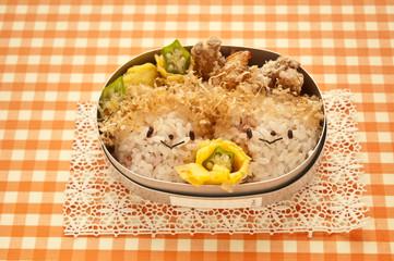 Lunch face motif of children