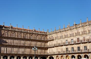Plaza Mayor, Salamanque. Salamanca. Ciel bleu.