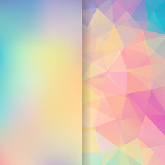 abstract background with pastel colorful triangle