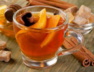 Christmas tea with orange